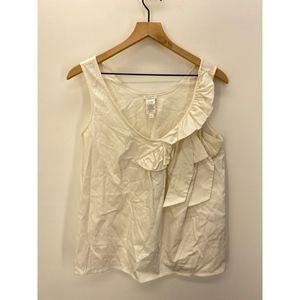 Kate Spade Sleeveless Cotton Tops Blouse White L